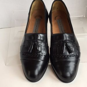 Stacy Adams tassel loafers size 9.5 black leather